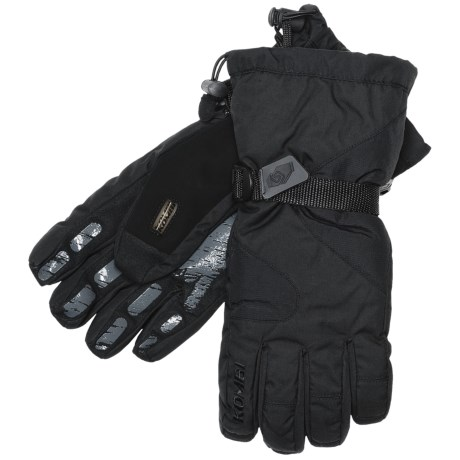 Kombi Waterguard® Gauntlet Gloves - Waterproof, Insulated (For Men) in Black