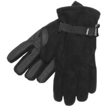 Kombi Windbreaker Fleece Gloves - Insulated (For Men) in Black - Closeouts