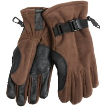 Kombi Windbreaker Fleece Gloves - Insulated (For Women) in Chocolate - Closeouts