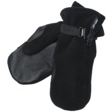 Kombi Windbreaker Fleece II Mittens - Windproof, Insulated (For Men) in Black - Closeouts