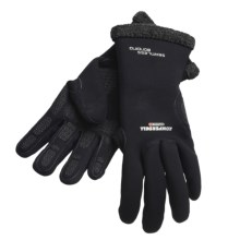 Komperdell Alpine Merino Wool Gloves -Waterproof (For Men And Women) in Black - Closeouts