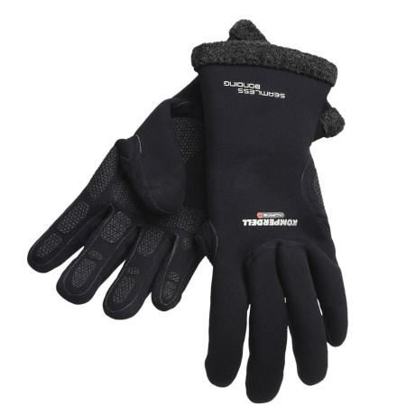 Komperdell Alpine Merino Wool Gloves -Waterproof (For Men And Women) in Black