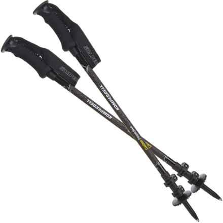 Komperdell Carbon Powerlock Tele 3 Trekking Poles - Pair (For Men) in Black - Overstock