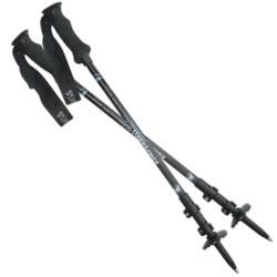 Komperdell Pure Carbon Trekking Poles - Power Lock, Compact, Pair (For Women) in Asst