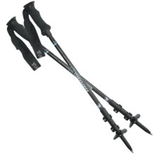 Komperdell Pure Carbon Trekking Poles - Power Lock, Compact, Pair (For Women) in See Photo - Closeouts