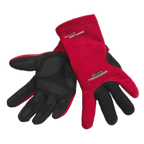 Komperdell Touring Frottee Gloves - Waterproof (For Men and Women) in Red/Black