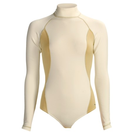 Komperdell XA-10 Thermo Fleece Base Layer Body Suit - Midweight, Long Sleeve (For Women) in Pearl