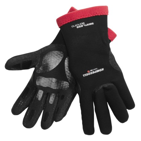 Komperdell XA-10 Thermo Gloves - Waterproof (For Men and Women) in Black/Red