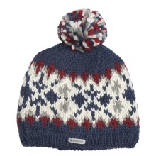 Kootenay Knitting Company Bergen Pom Beanie Hat - Merino Wool (For Men and Women) in Blue - Closeouts
