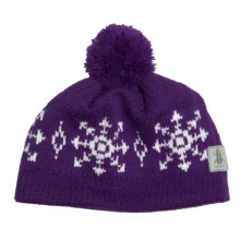 Kootenay Knitting Company Lillehammer Pom Hat - Merino Wool (For Men and Women) in Purple - Closeouts