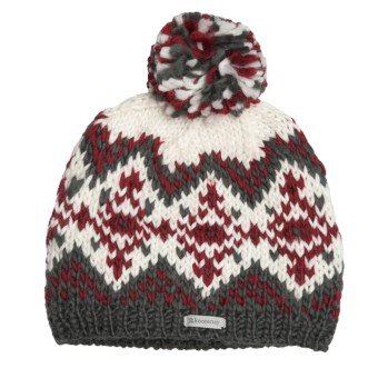 Kootenay Knitting Company Oslo Pom Beanie Hat (For Men and Women) in Grey