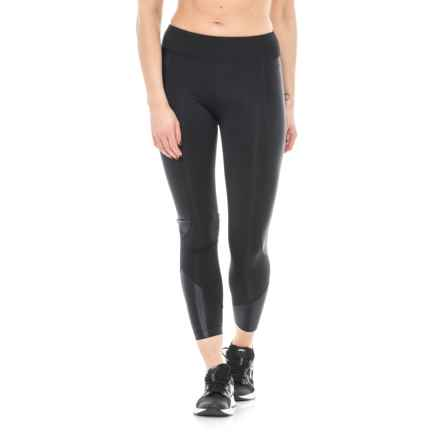 Koral Curve Mid-Rise Crop Leggings (For Women) in Black - Closeouts