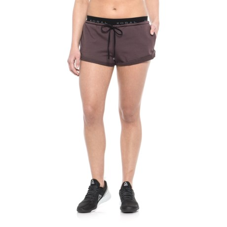 Koral Roll Up Shorts (For Women) in Bordeaux