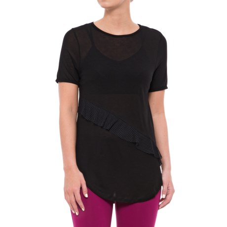 Koral Threshold Shirt - Short Sleeve (For Women) in Black