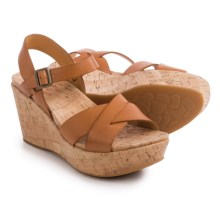 Kork-Ease Ava 2.0 Wedge Sandals - Leather (For Women) in Marigold Full Grain - Closeouts