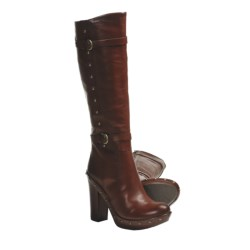 Kork-Ease Bailey High-Heel Boots - Leather, Rivet Detail (For Women) in Rust