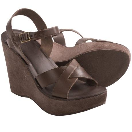 Kork-Ease Bette Wedge Sandals (For Women) in Putty