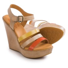 Kork-Ease Fay Wedge Sandals - Leather (For Women) in Soda Full Grain - Closeouts