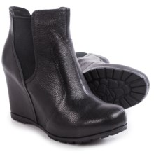 Kork-Ease Neville Wedge Ankle Boots - Leather (For Women) in Black Full Grain - Closeouts