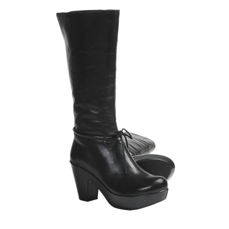 Kork-Ease Romy Platform Boots - Leather (For Women) in Black