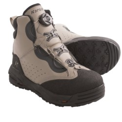 Korkers Chrome Wading Boots - Kling-On Sole, Felt Sole (For Men and Women) in Moonrock/Black