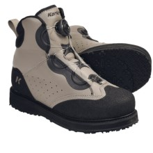 Korkers Chrome Wading Boots - Kling-On Soles (For Men and Women) in Tan/Black - Closeouts