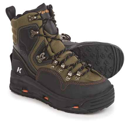Korkers K-5 Bomber Wading Boots - Interchangeable Outsoles (For Men) in Aloe/Black - Closeouts