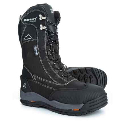 Korkers Tundrajack Snow Boots - Waterproof, Insulated, Leather ( (For Men) in Black - Closeouts
