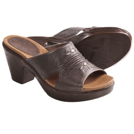 Kravings by Klogs Nicks Sandals - Distressed Calf Leather (For Women) in Licorice Distressed Calf