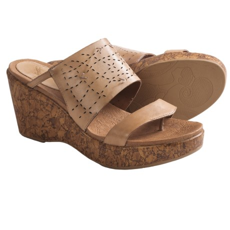Kravings by Klogs Sundance Sandals (For Women) in Tan Soft Burnished