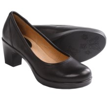 Kravings by Klogs Taylor Pumps - Leather (For Women) in Black Full Grain - Closeouts