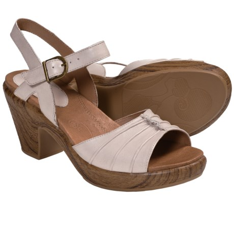 Kravings by Klogs Venice Sandals - Leather (For Women) in Oyster Napa