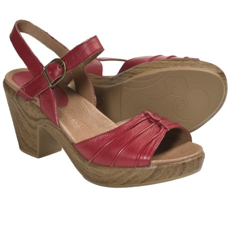 Kravings by Klogs Venice Sandals - Leather (For Women) in Red Napa