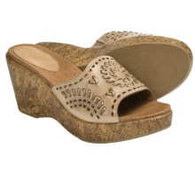 Kravings by Klogs Woodstock Sandals (For Women) in Tan Soft Burnished - Closeouts