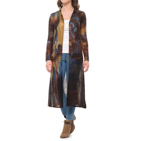 Krimson Klover Bennington Duster Sweater - Open Front (For Women) in Blue/Brown