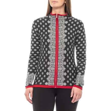 Krimson Klover Brigitte Full-Zip Cardigan Sweater (For Women) in Snow - Closeouts