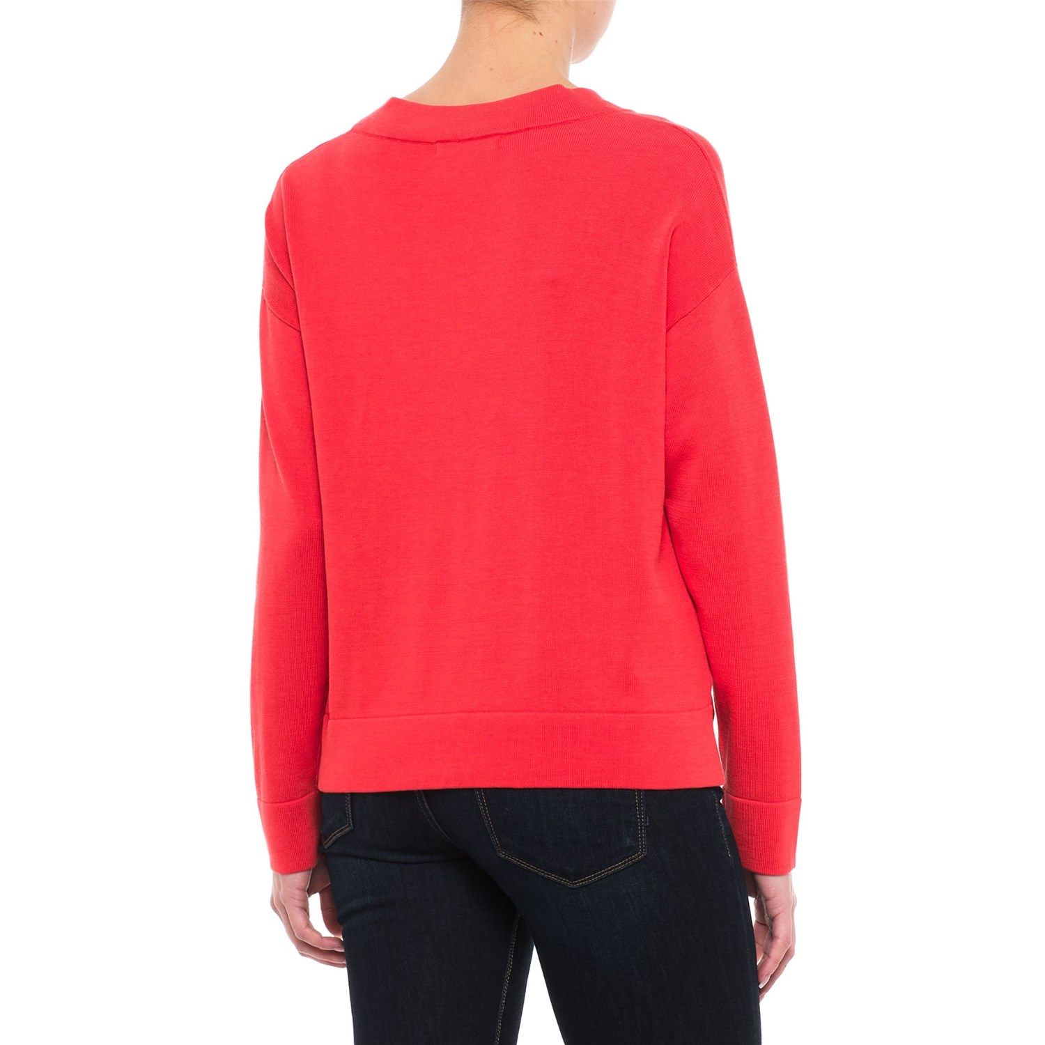 Krimson Klover Caroline Boxy V-Neck Sweater (For Women) - Save 59%