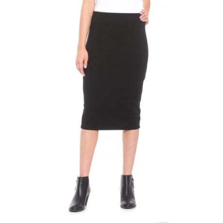 Krimson Klover Editor Rayon-Blend Pencil Skirt (For Women) in Black