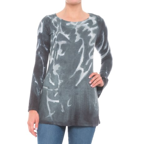 Krimson Klover Florence Tunic Shirt - Long Sleeve (For Women) in Sage
