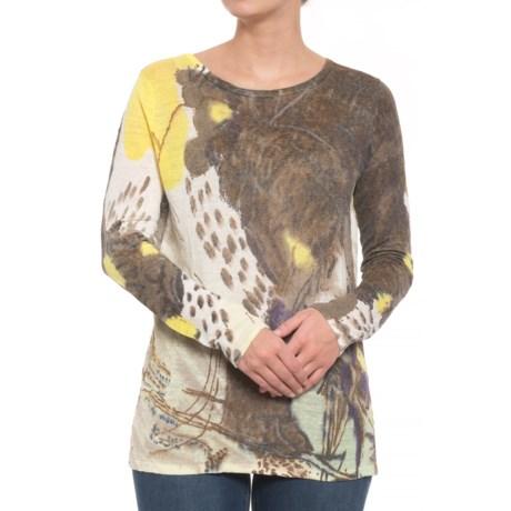 Krimson Klover Folly Shirt - Long Sleeve (For Women) in Brown /Ivory /Yellow