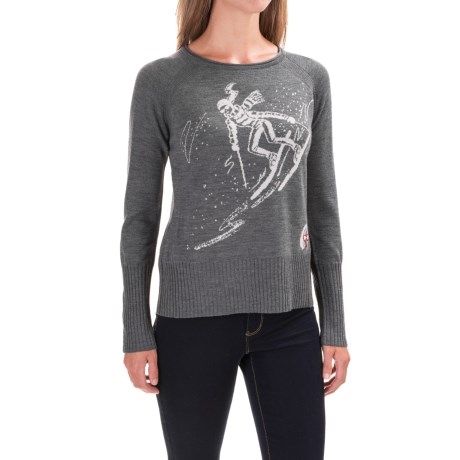 Krimson Klover Free Rider Sweater - Merino Wool, Relaxed Fit (For Women) in Mid Grey