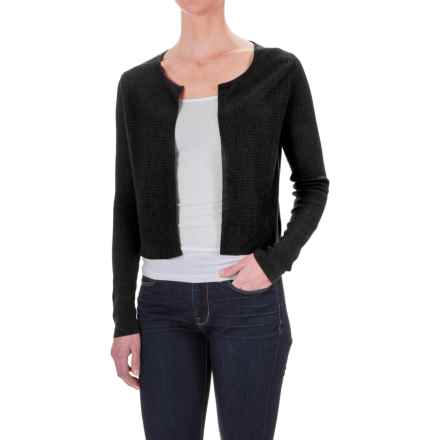 Krimson Klover Grace Bolero Sweater - Linen, Open Front (For Women) in Black - Closeouts