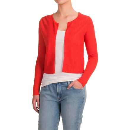 Krimson Klover Grace Bolero Sweater - Linen, Open Front (For Women) in Poppy - Closeouts
