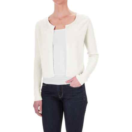 Krimson Klover Grace Bolero Sweater - Linen, Open Front (For Women) in White - Closeouts