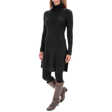Krimson Klover In the Middle Dress - Merino Wool, Long Sleeve (For Women) in Heather Black - Closeouts