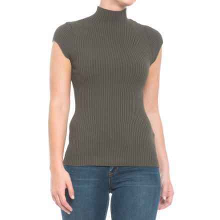 Krimson Klover Melanie Sweater - Mock Neck, Short Sleeve (For Women) in Concrete - Closeouts