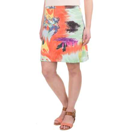 Krimson Klover Monet Skirt - Stretch Cotton (For Women) in Poppy/Cobalt Monet - Closeouts