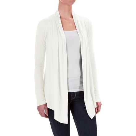 Krimson Klover Over & Over Cardigan Sweater - Stretch Viscose, Open Front (For Women) in White - Closeouts