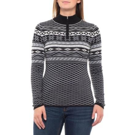 cd0969a04e2a37 Krimson Klover Over Yonder Sweater - Merino Wool, Zip Neck (For Women) in