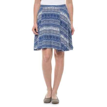 Krimson Klover Palms Swing Skirt (For Women) in Blue Handkerchief - Closeouts
